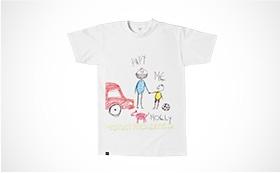 T-shirt cotton slub bambino