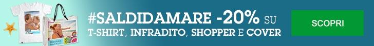 SALDI DA MARE - 20% su t-shirt, cover, shopper e infradito