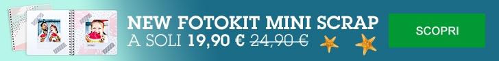 NOVITÀ FotoKit Mini Scrap: usa il codice SCRAP2018 per averlo a soli 19,90 € anzichè 24,90 €