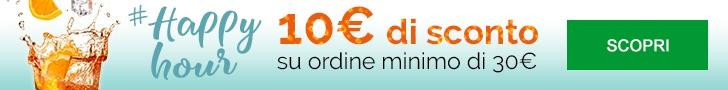 10€ di sconto su tutti i prodotti
