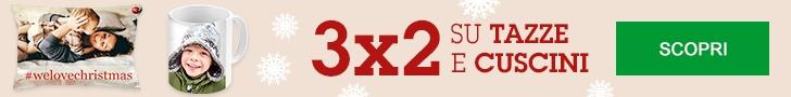 ANTICIPA I REGALI CON I NOSTRI 3x2! Ora anche su Cuscini, Tazze e Calamite, Affrettati!