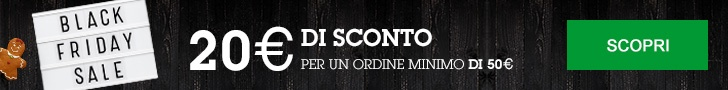 Black Friday Week: 20€ su ordine minimo di 50€