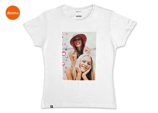 FotoT-shirt Slim cotone