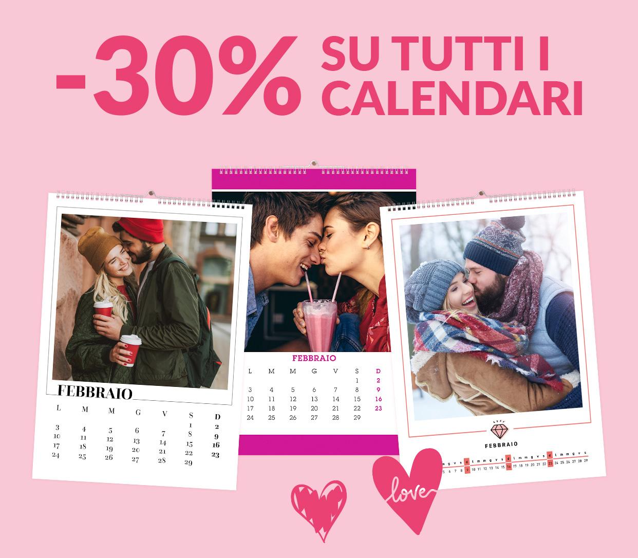 -30% su Calendari e Agende