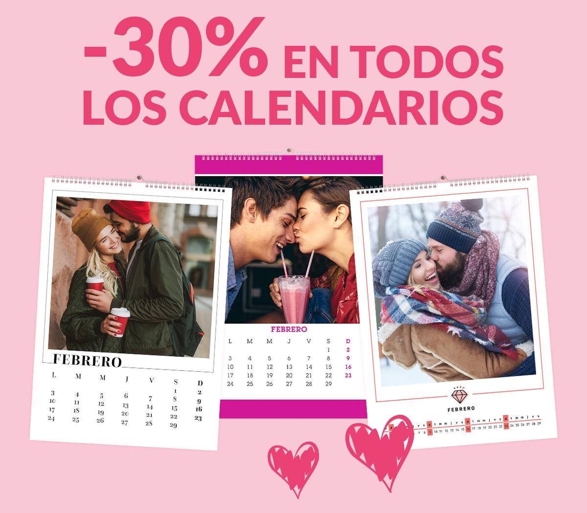 -30% en todos los Calendarios