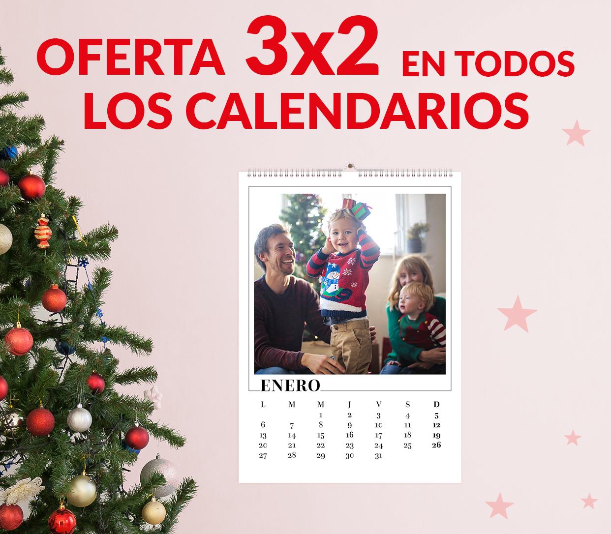 Oferta 3×2 en todos los calendarios. El menos caro te lo regalamos.