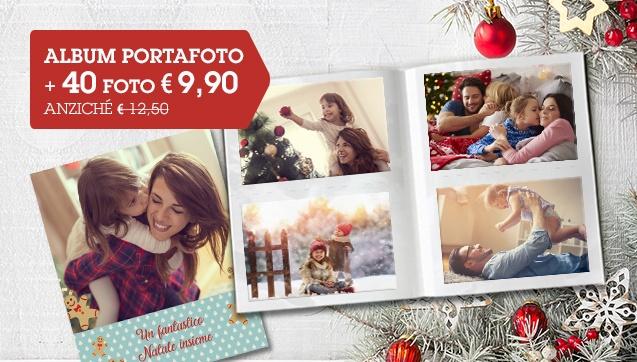 40 foto 10x o 10x15 + Album Portafoto personalizzato a soli € 9,90