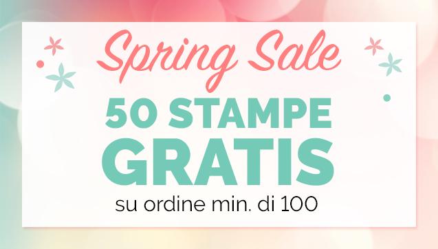 50 Stampe Gratis su ordine min. di 100
