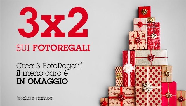 3x2 su tutti i FotoRegali