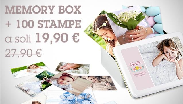 100 Stampe + Memory Box a soli 19,90€