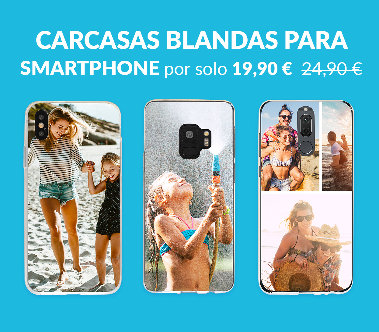 Carcasas blandas para smartphone por solo 19,90 € en lugar de 24,90 €