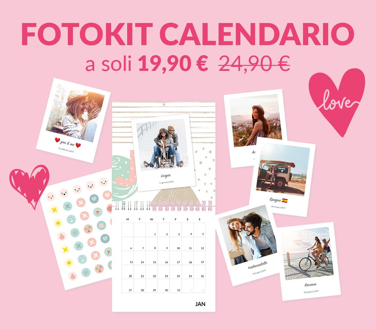 FotoKit Calendario a soli 19,90€ anziché 24,90€