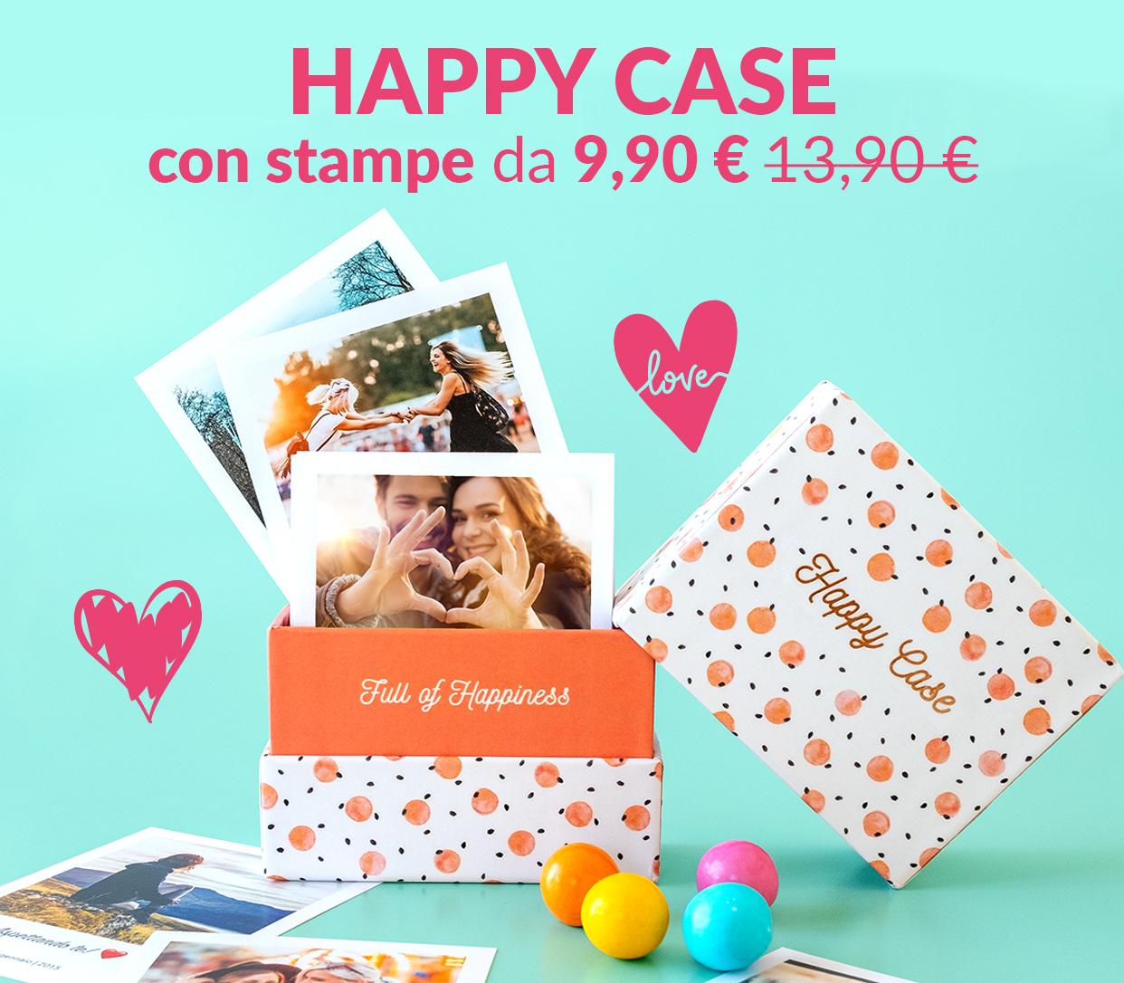 Happy Case con stampe, da 9,90€ anziché 13,90€