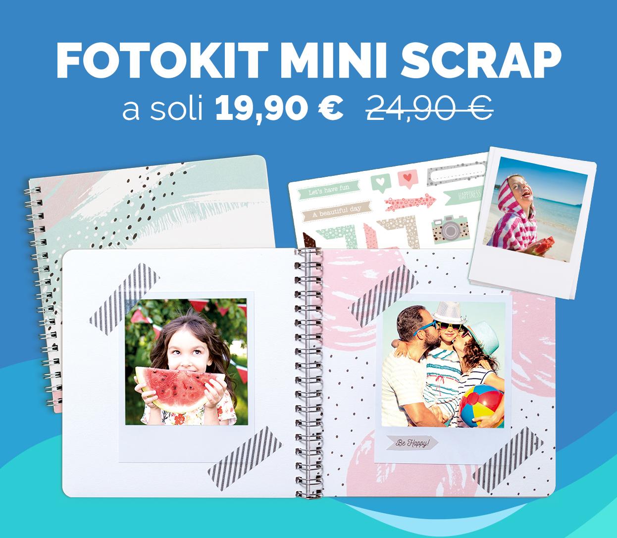 FotoKit Mini Scrap a soli 19,90€ anziché 24,90€