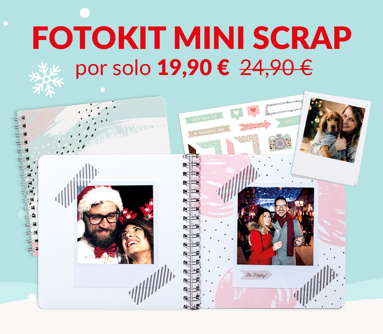 FotoKit Mini Scrap por solo 19,90 € en lugar de 24,90 €