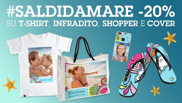 -20% su T-Shirt, Infradito, Shopper e Cover