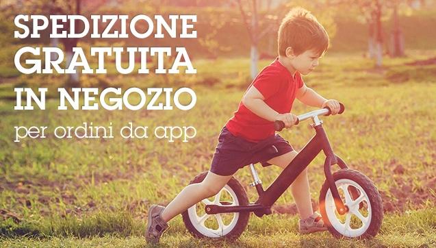 Spedizione gratuita in Negozio per ordini da app (min. 19€)