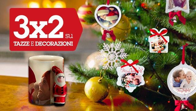 3x2 su Decorazioni di Natale e Tazze