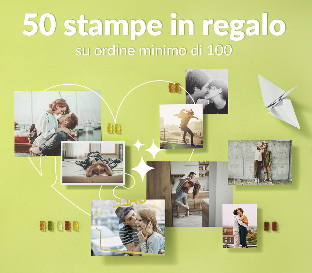 50 Stampe in regalo su ordine min. di 100