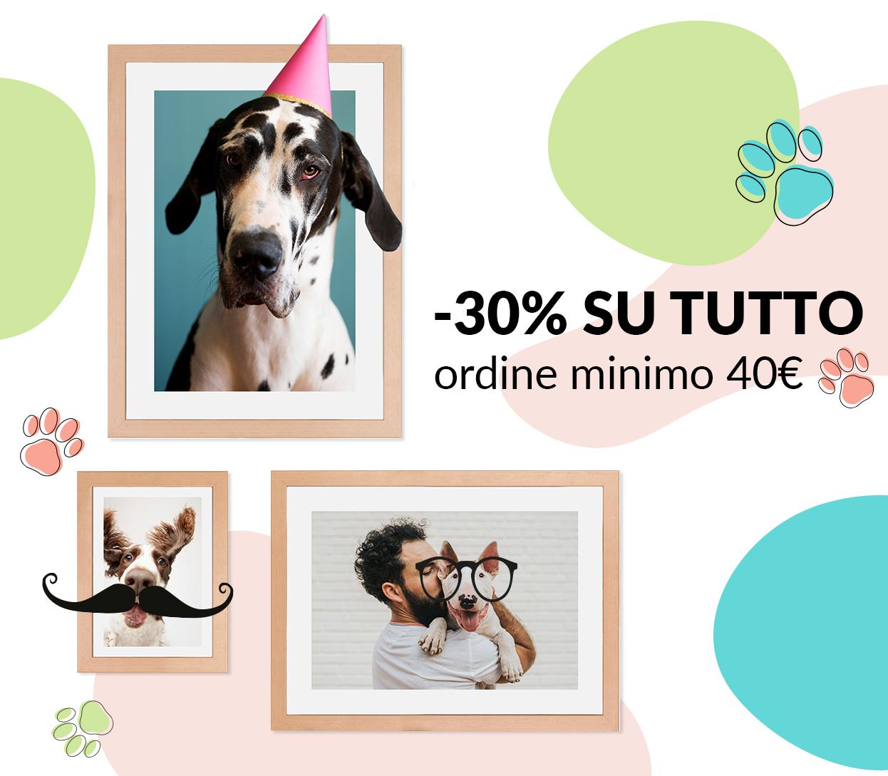 -30% su tutto (ordine minimo 40€)