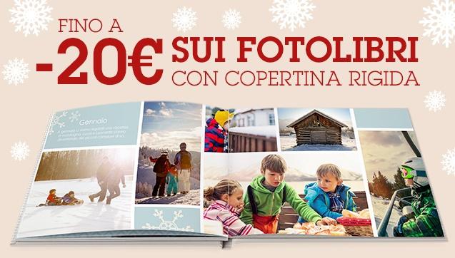-10€ sui FotoLibri Eventi, -20€ sui FotoLibri Racconti