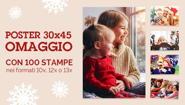 Un Poster 30x40 o 30x45 in omaggio con 100 stampe