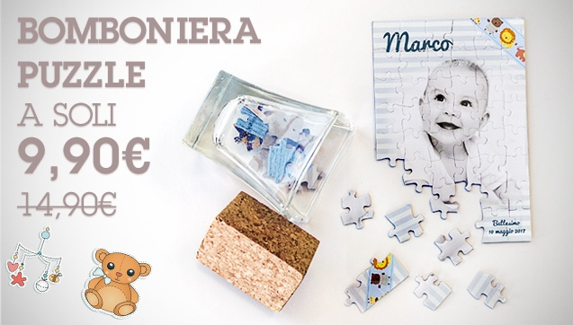 Bomboniera Puzzle a soli 9,90€ anziché 14,90€